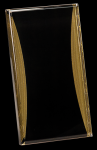 Black/Gold Standing Reflection Acrylic Award Recognition Plaque Achievement Acrylic Awards