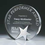 Top Star Circle Crystal Award Crystal Star Awards