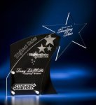 Clear Star with Black Accent Acrylic Award Full Color Printed Acrylic Awards