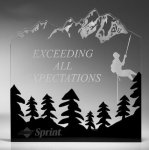 Forest Silhouette Acrylic Award Full Color Printed Acrylic Awards