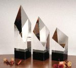 Executive Diamond Pillar Optical Crystal Awards