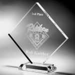 Clear Diamond Acrylic Award Sales Awards