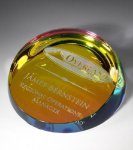 Colored Corona Paperweight Secretary Gift Awards